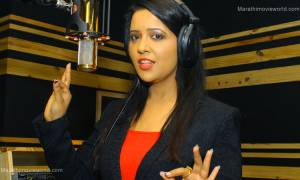 Amruta Devendra Fadnavis, recording song in studio