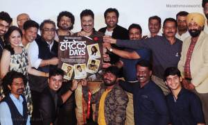'Hostel Days' music launch event. Aroh Welankar, Shaan Avadhoot Gupte, Ajay Naik, Kumar Sanu