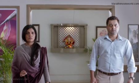 Mukta Barve and Subodh Bhave in Marathi film 'Hrudayandar'