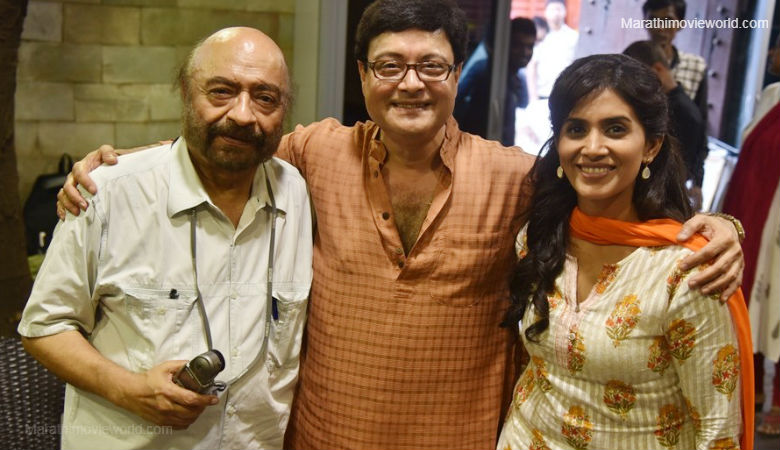 Govind Nihalani, Sachin Pilgaonkar and Sonali Kulkarni, Marathi movie 'Ti Ani Itar'