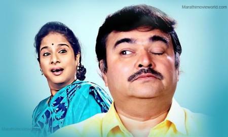 Shubhangi Gokhale, Prashant Damle in 'Sakhar Khallela Manus' Marathi Play