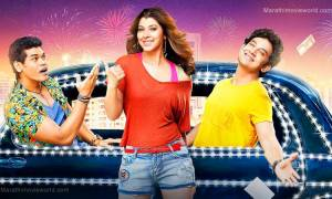 Sidddharth Jadhav, Tejaswini Pandit, Umesh Kamat in 'Ye re ye re Paisa' movie