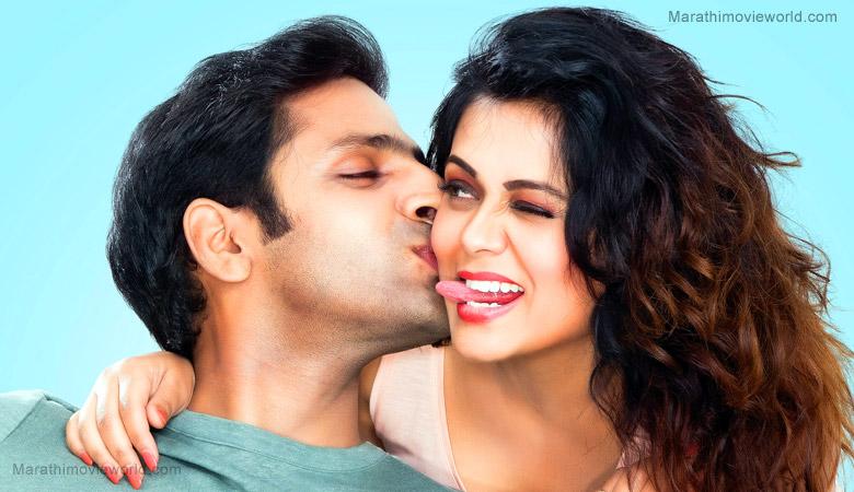 Vaibhav Tatwawadi and Prarthana Behere in movie 'Whatsup Lagna'